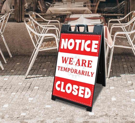 We are Temporary Closed Signicade Black