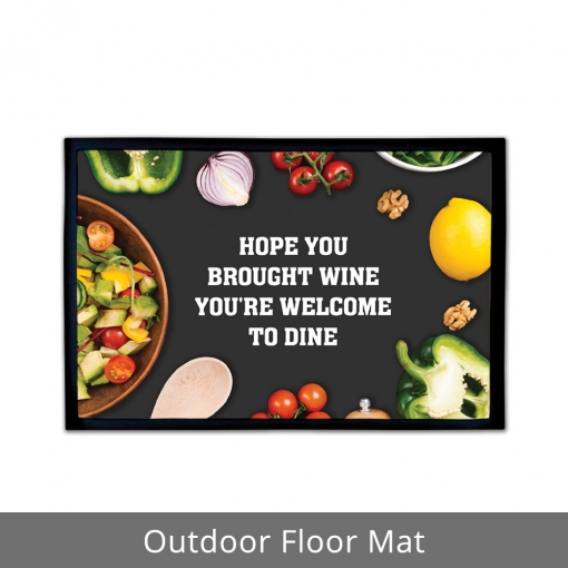 Welcome To Dine Outdoor Floor Mats