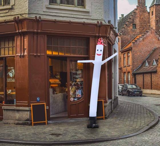 White Inflatable Tube Man