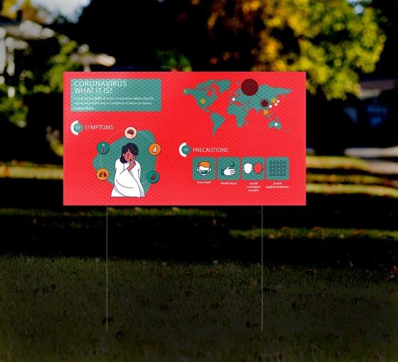 HIP Reflective Yard Awareness Signs