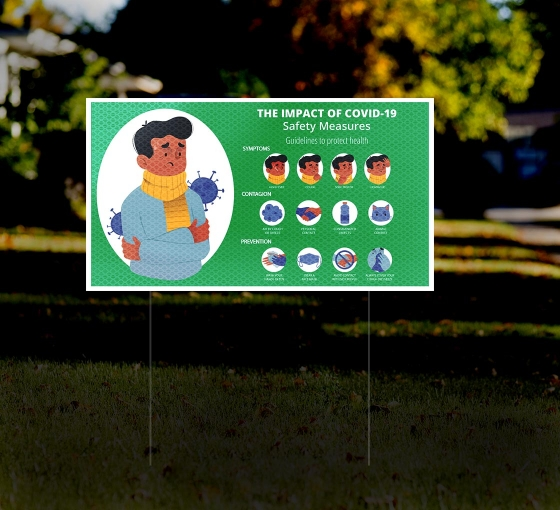 HIP Reflective Yard Safety Signs