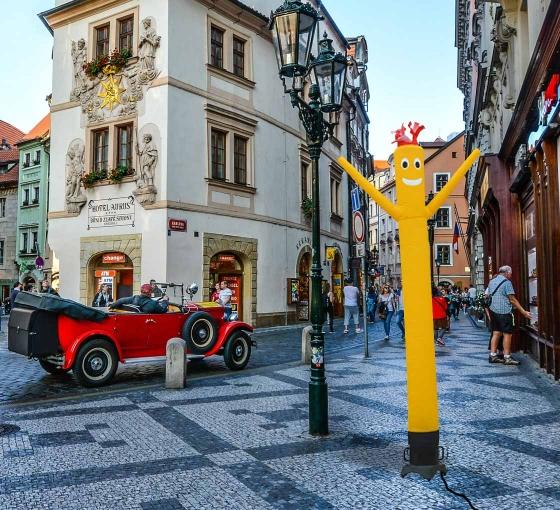 Yellow Inflatable Tube Man