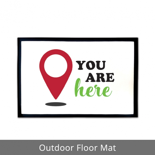 You Are Here Outdoor Floor Mats