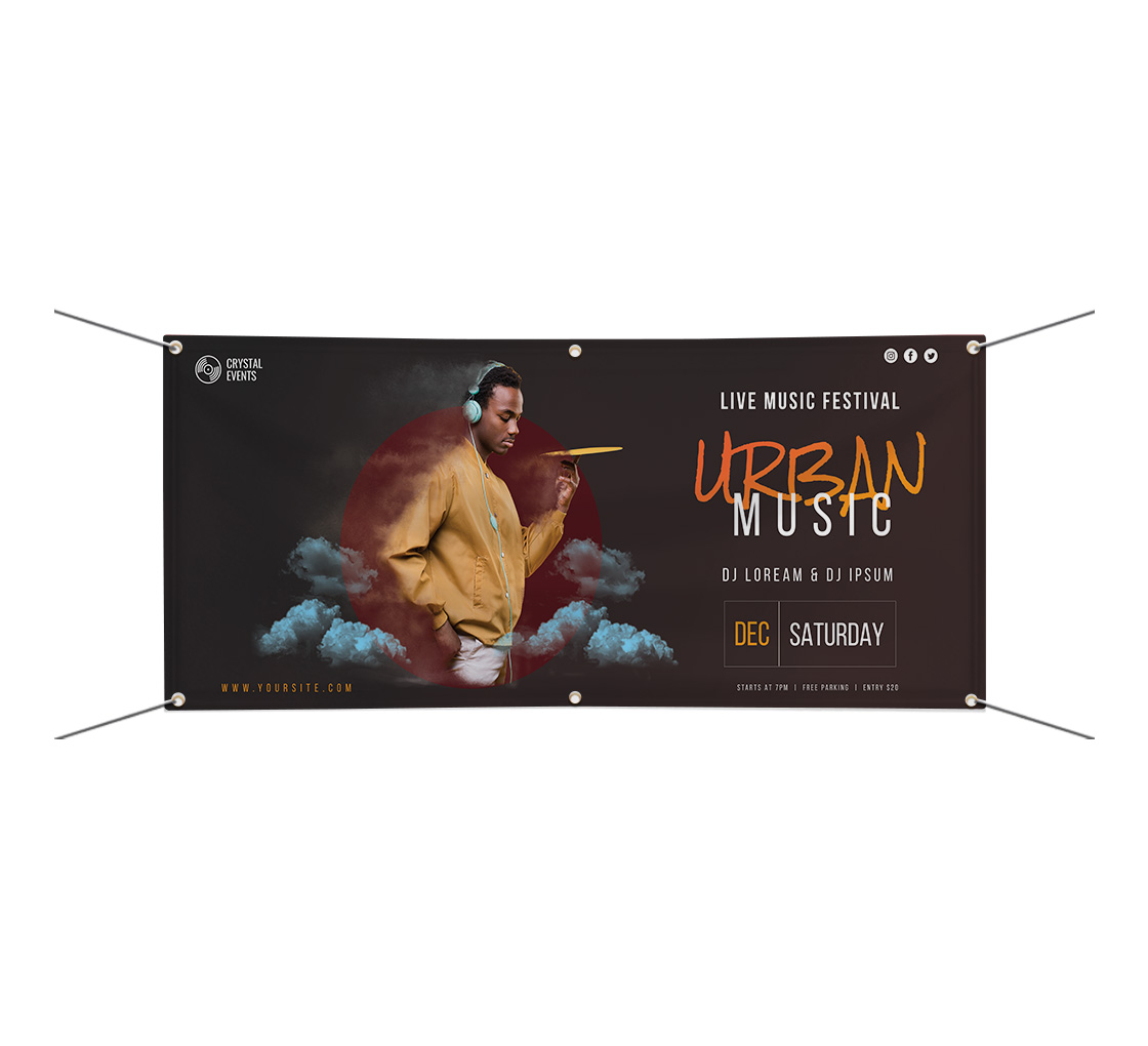 Area Rug 20 13 oz Banner Non-Fabric Heavy-Duty Vinyl Single-Sided with Metal Grommets