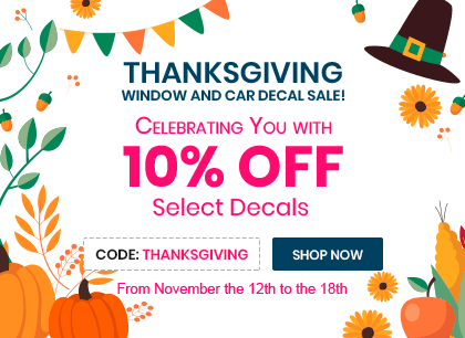 Thanksgiving Window and Car Decal Sale!